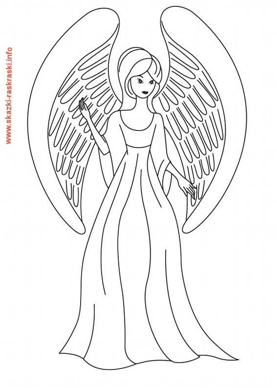 Raskraska Devushka Angel Angel Coloring Pages Cartoon Coloring Pages Coloring Pages