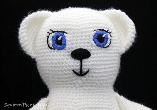 Embroidering Amigurumi Faces : How to add faces to your amigurumi: satin stitch embroidery satin
