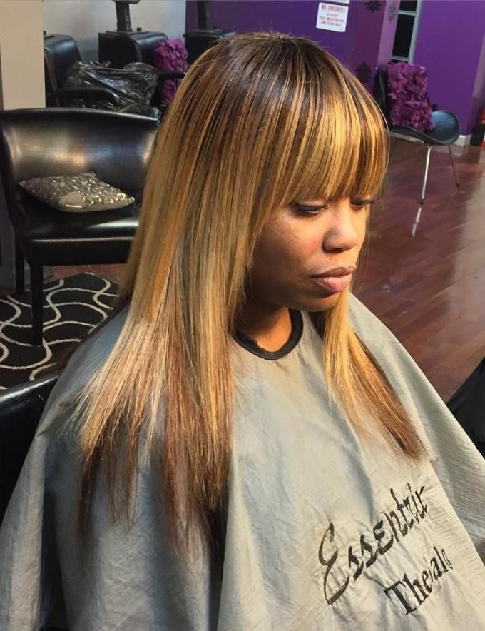 Sew Hot: 40 Gorgeous Sew-In Hairstyles | Bangs, Hair style ...