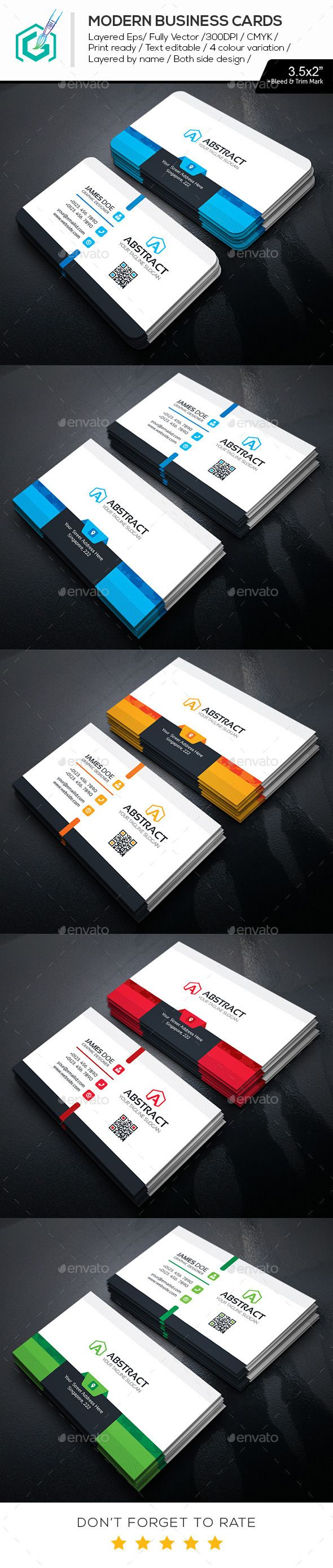 Modern Business Cards Template #design Download: http://graphicriver.net/item/modern-business-cards/11469211?ref=ksioks