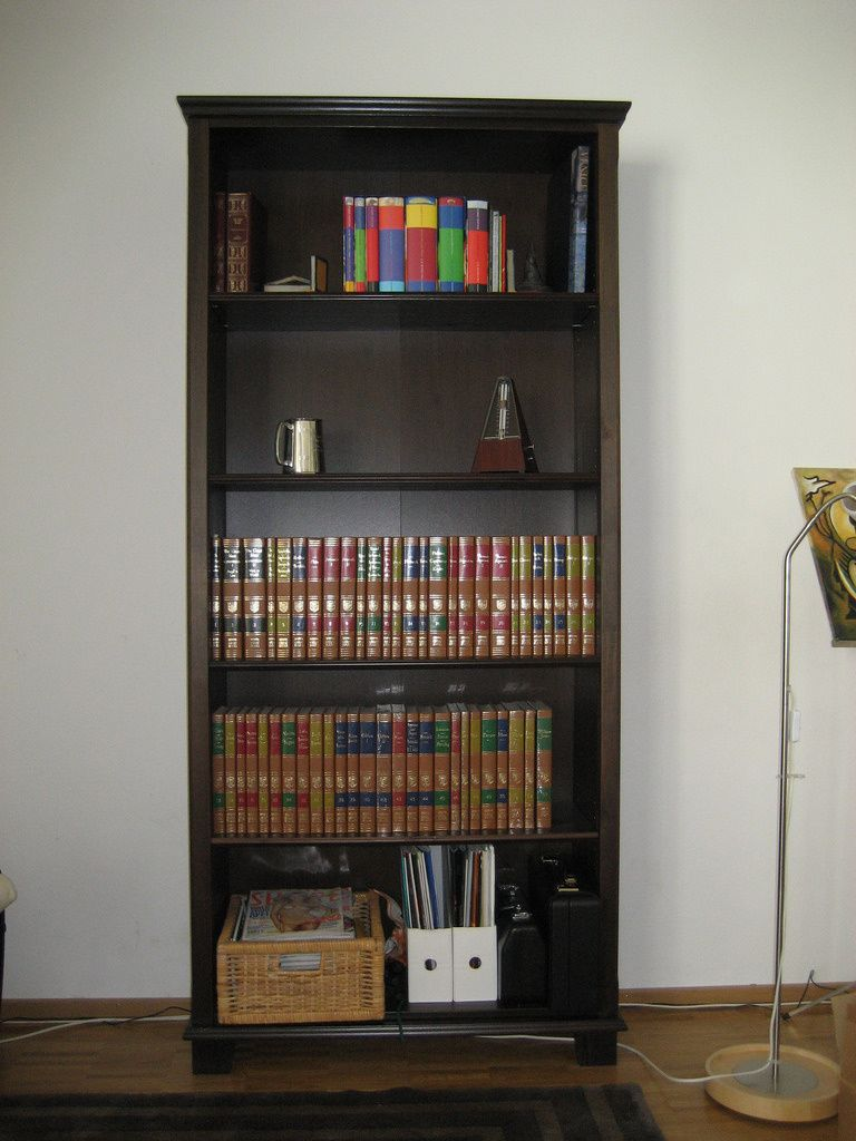IKEA Markor bookcases and TV stand in
