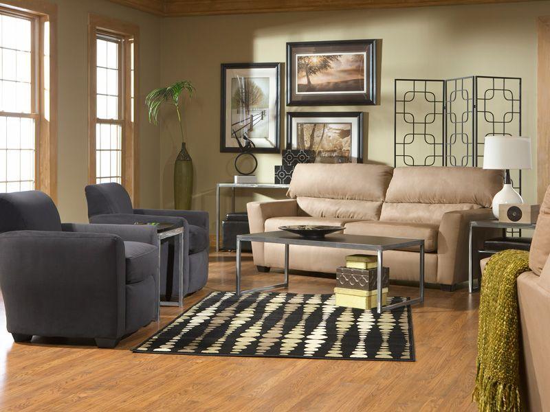 Zane with Sydney living room set (via @CORT Furniture