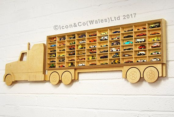 Toy Car 'Truck' Shelf, Model Car Shelving Unit, 'American