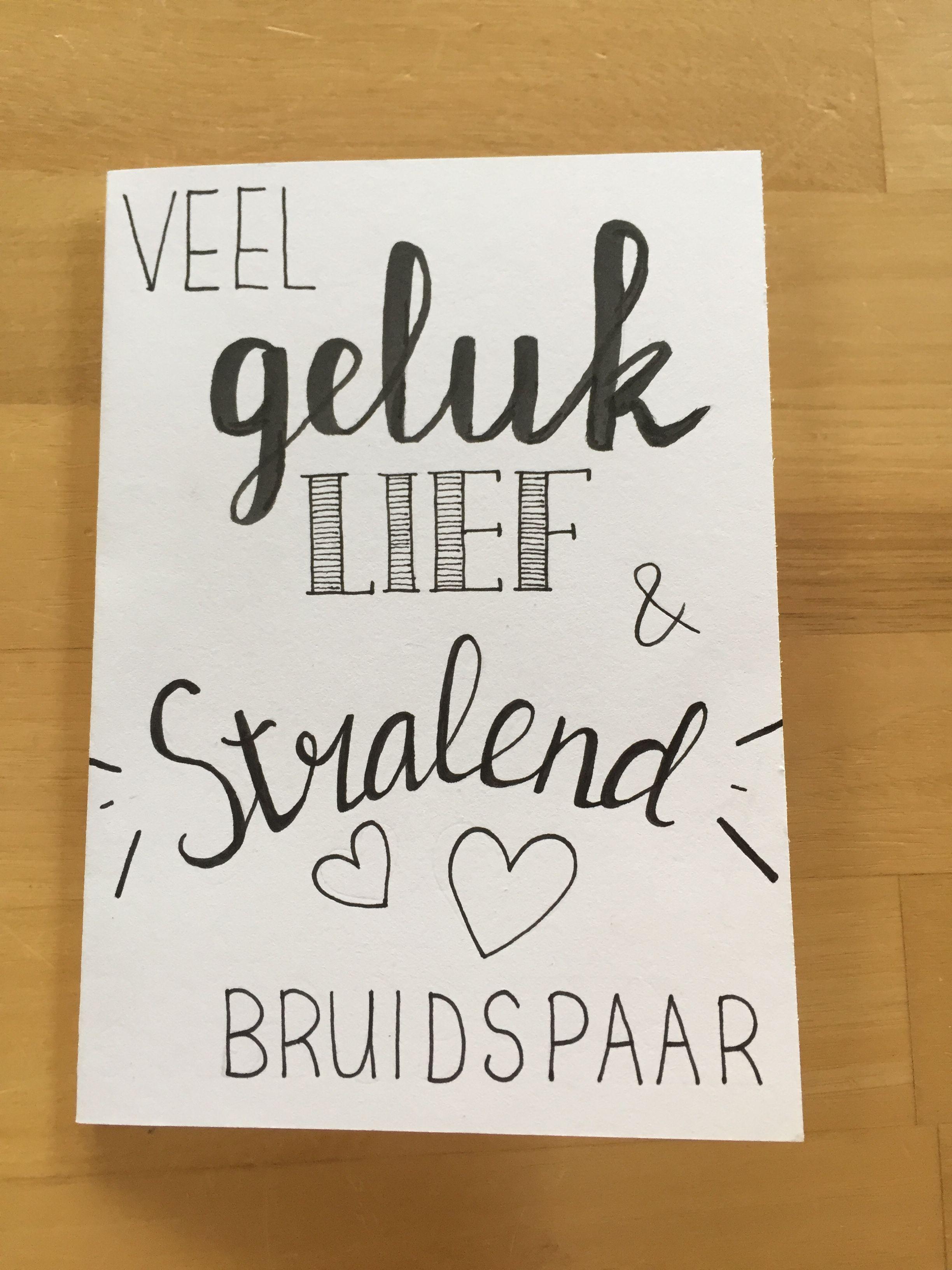 Top HANDLETTERING - weddingcard - huwelijk - bruiloft - kaart - veel #XS86