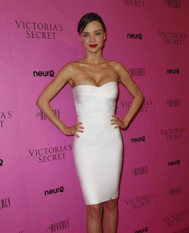 Tan White Dress Red Lips With Images