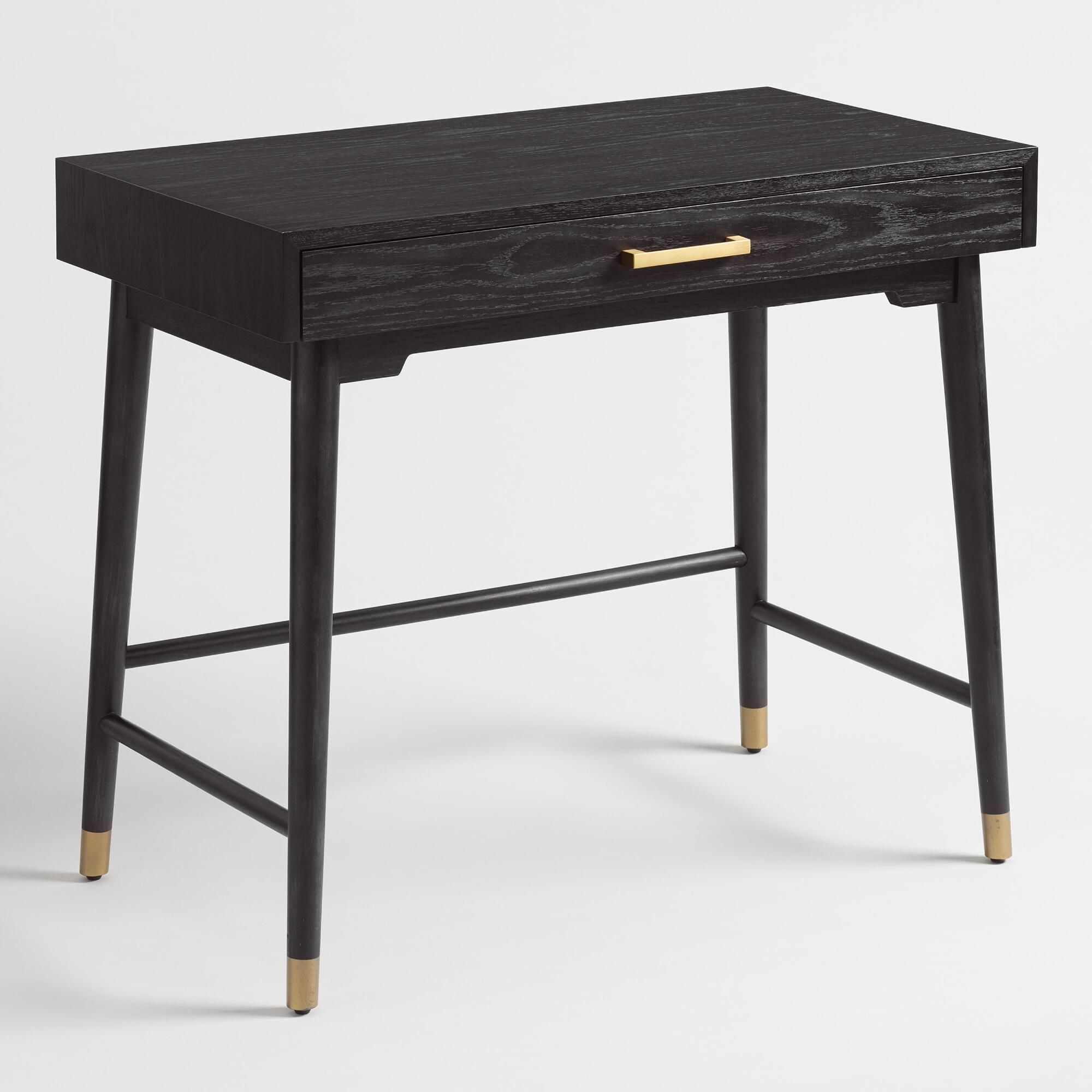 Pleasant Black And Gold Wood Zola Desk By World Market Products In Bralicious Painted Fabric Chair Ideas Braliciousco