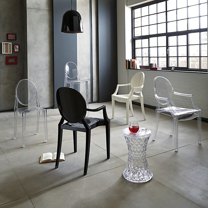 philippe starck for kartell louis ghost chair crystal pinterest