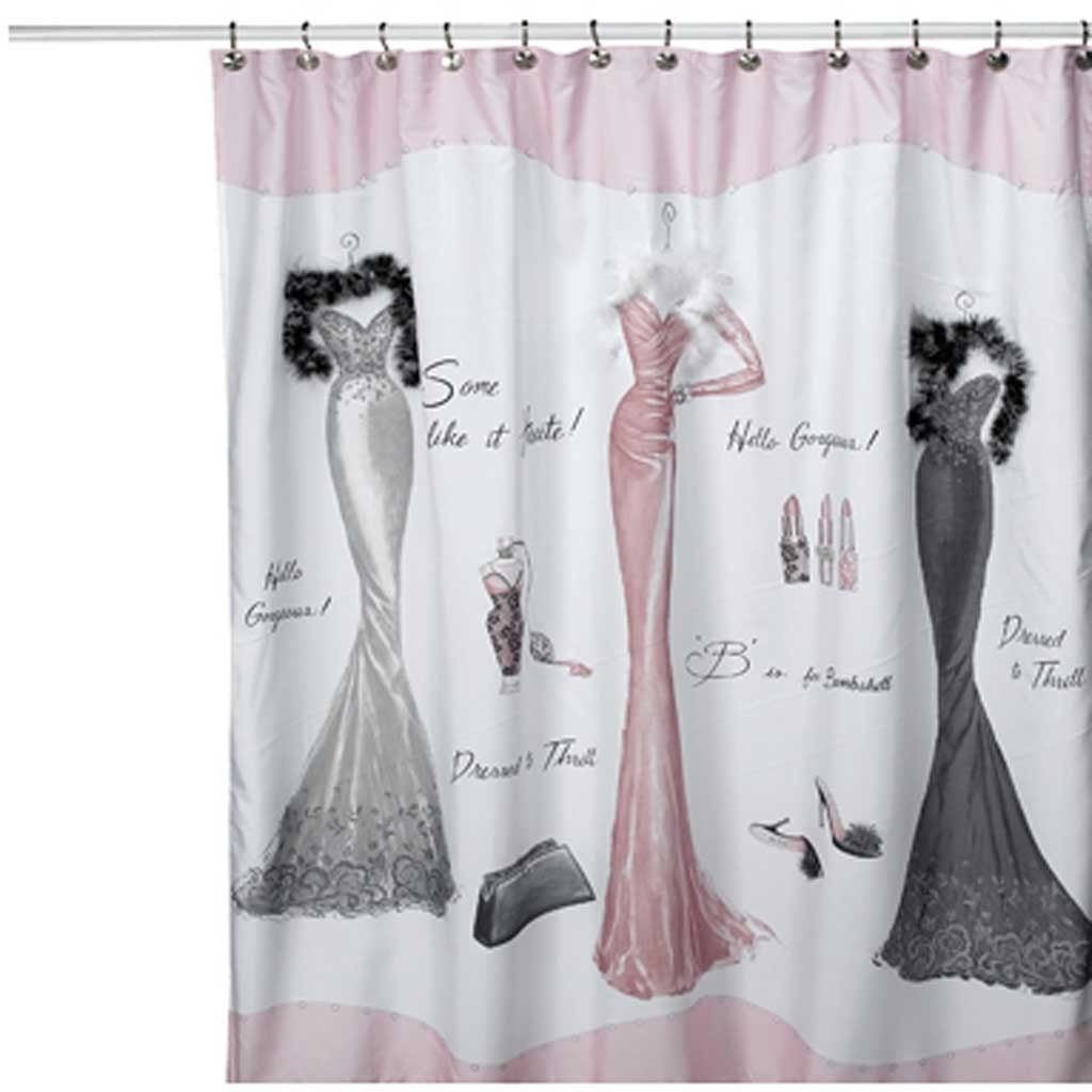 Dressed to thrill shower curtain shower curtain pinterest