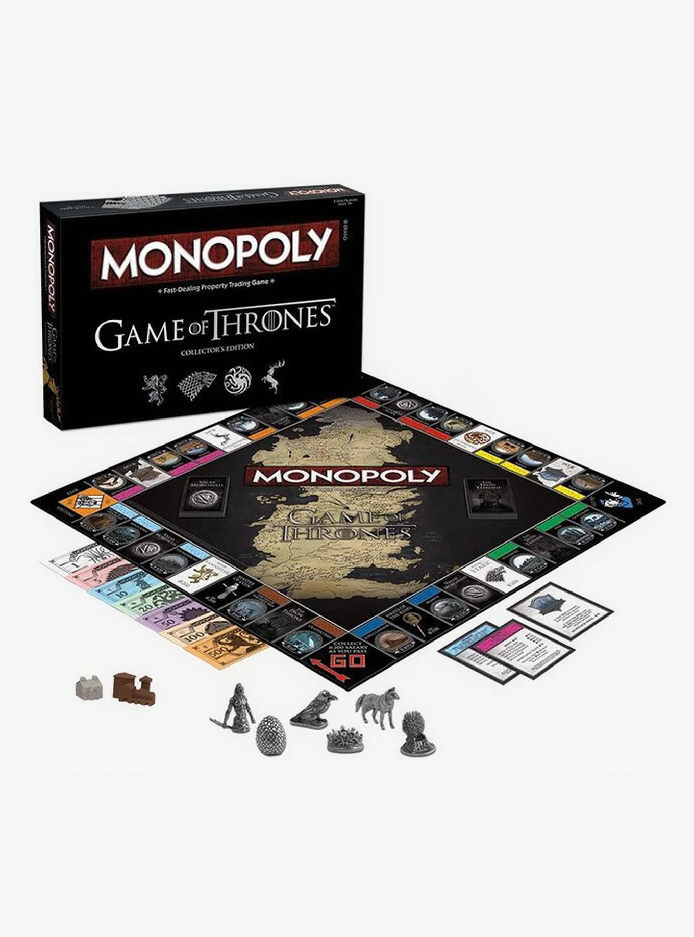Game Of Thrones Collector S Edition Monopoly Game Of Thrones Gifts Game Of Thrones Cards Game Of Thrones Books
