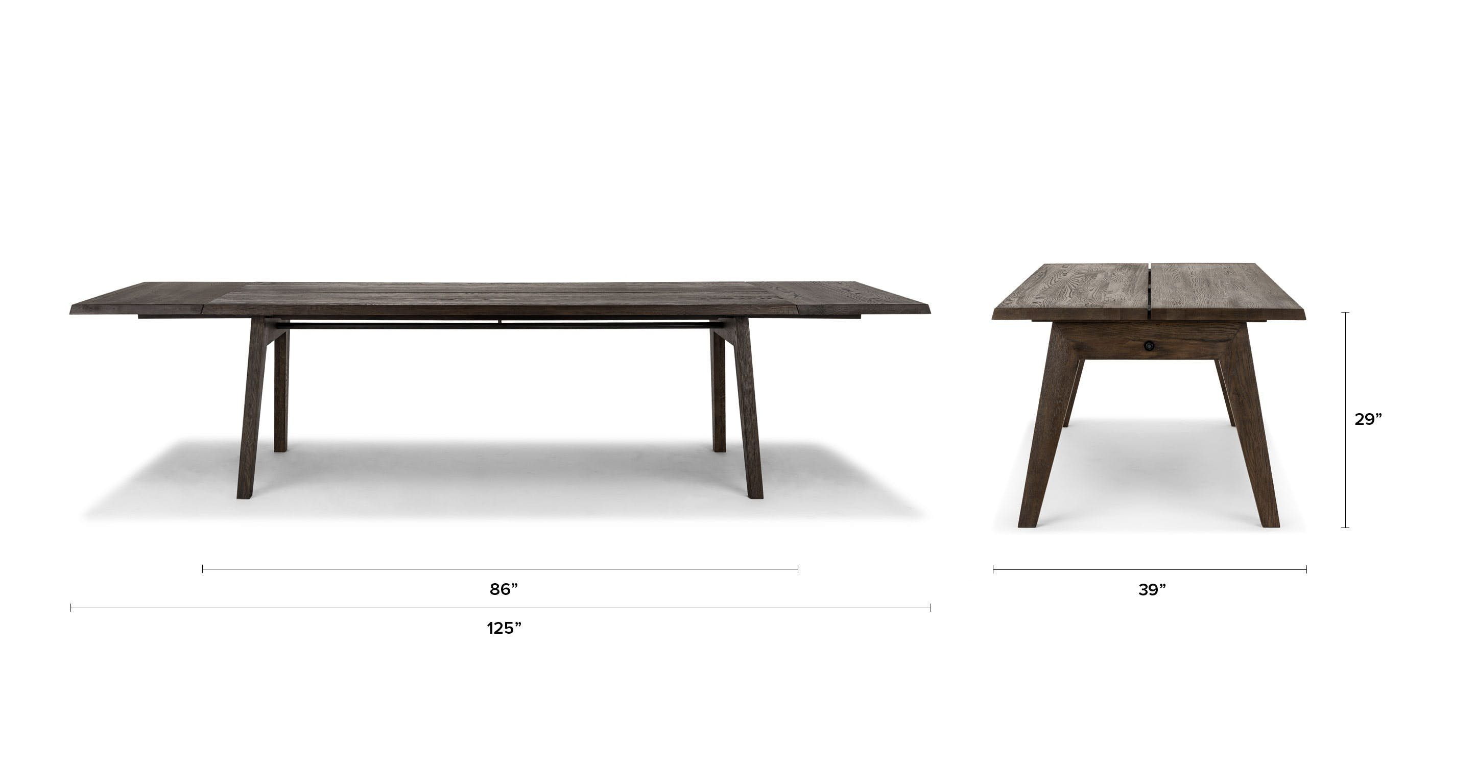Madera Smoke Dining Table Extendable With Images Oak Dining