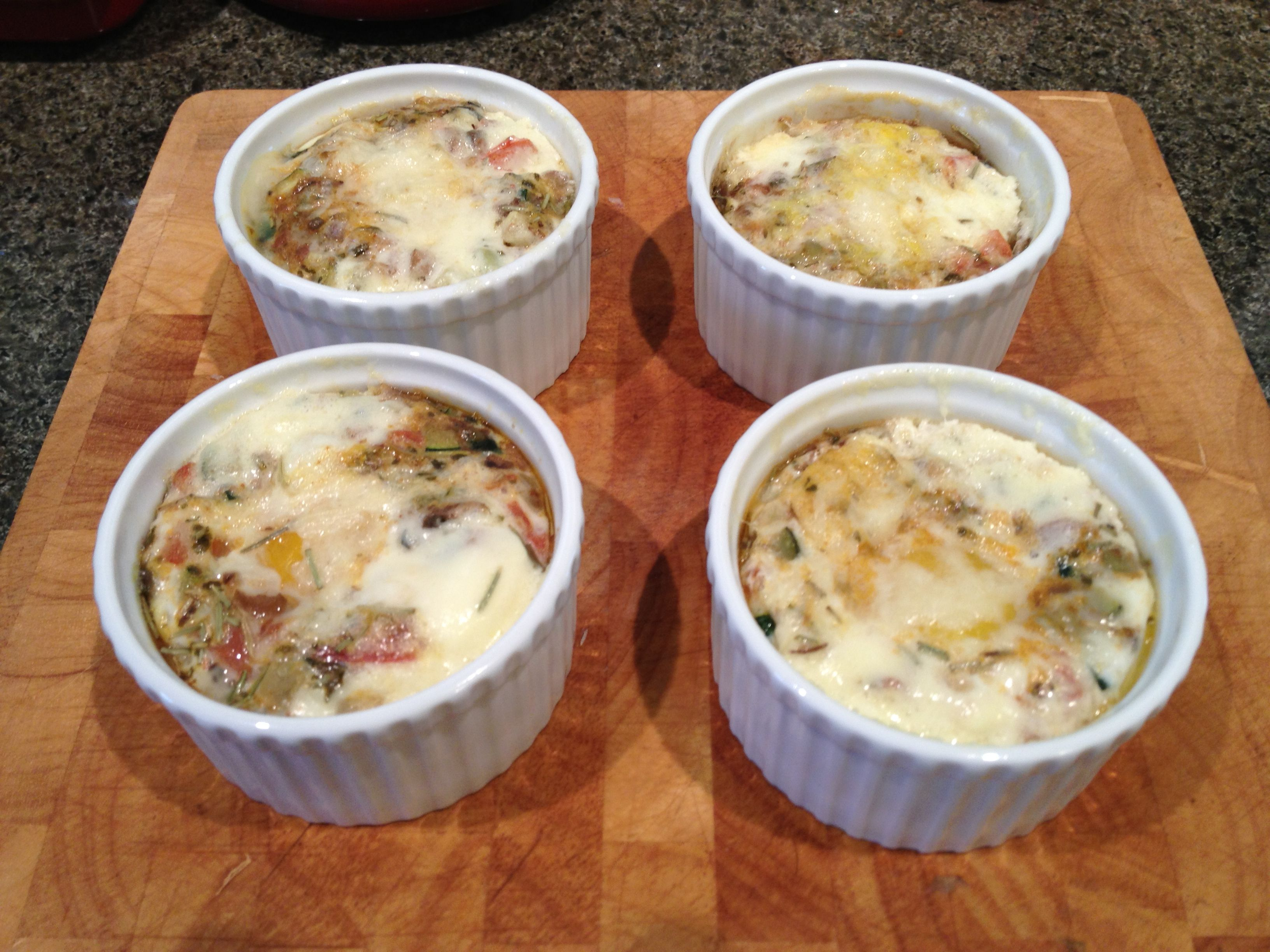 Baked Eggs With Creme Fraiche Rosemary Tomato Black