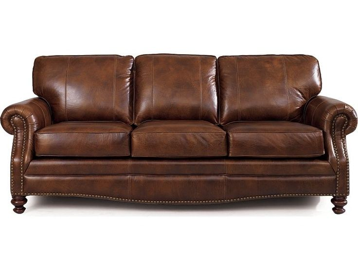 Lane Leather Sofas Lane Leather Master Sofa With Fluffy Rounded Back Cushions Thesofa