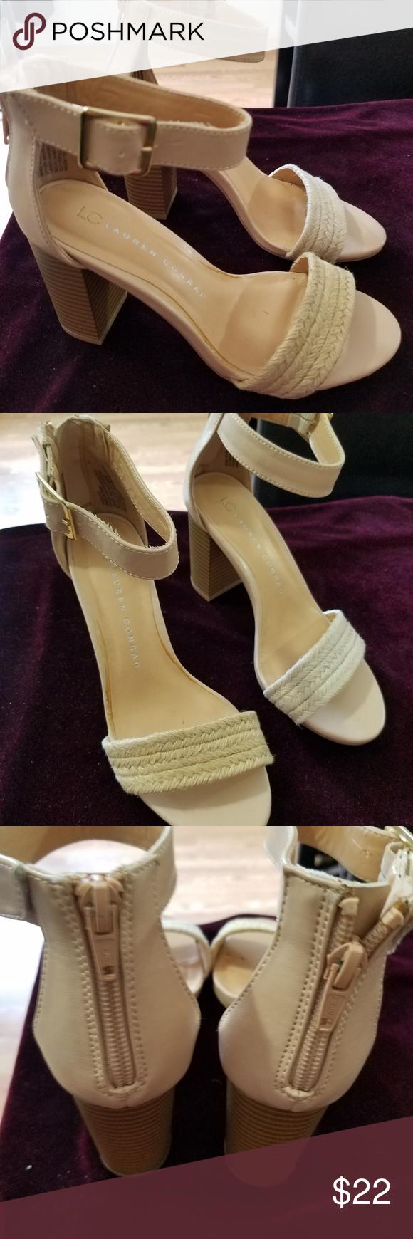 LC Lauren Conrad Womens Woven High Heel Sandals