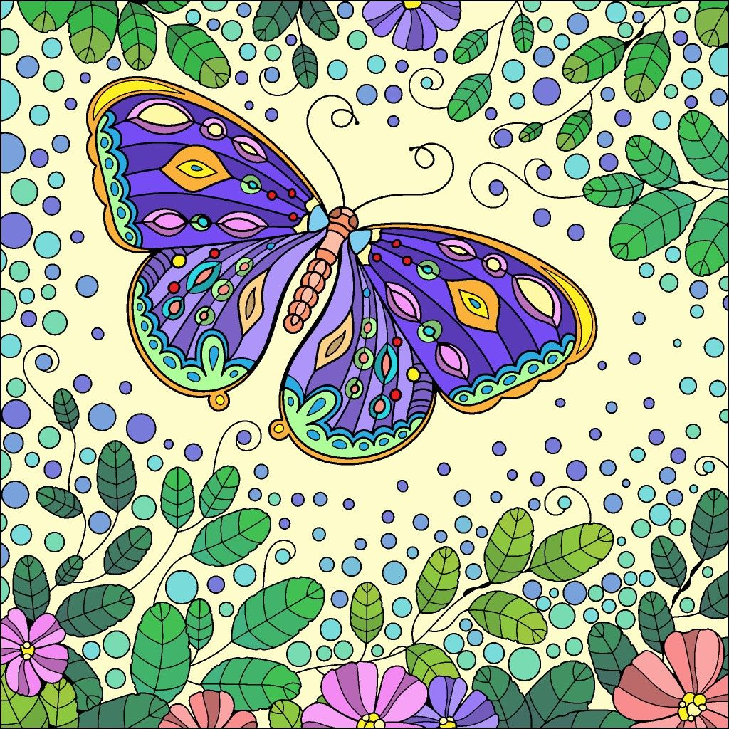 Colorbynumber Colorful Art Flower Drawing Colorful Pictures