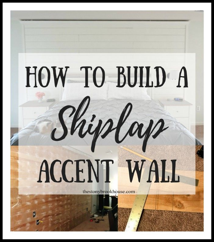 Furring Strips Accent Wall: How To Build A Shiplap Accent Wall