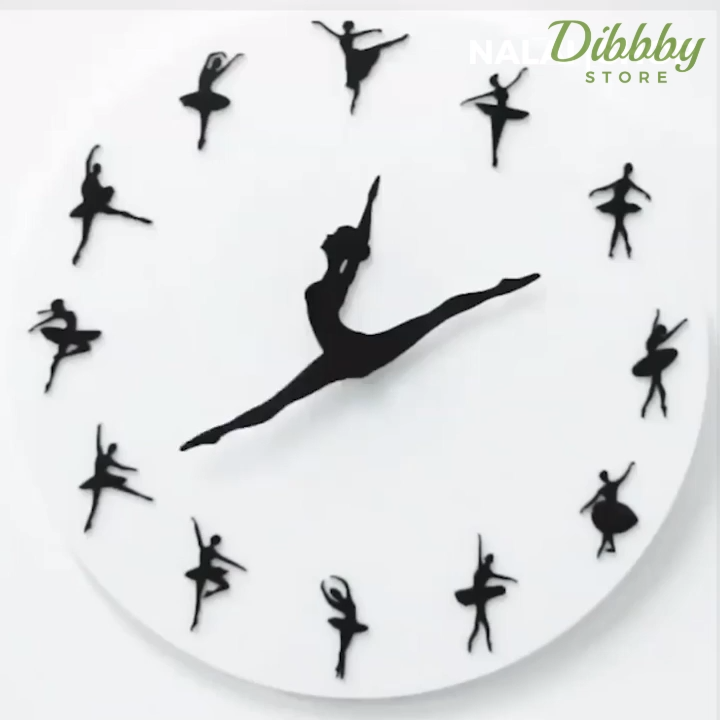 This premium Ballet Clock always has time for dancing. The ballerina's legs represent the clock's hands and gracefully point to the time. It is made of durable high-quality acrylic material. The clock has no sound at its movement that you will hear no ticking sound.