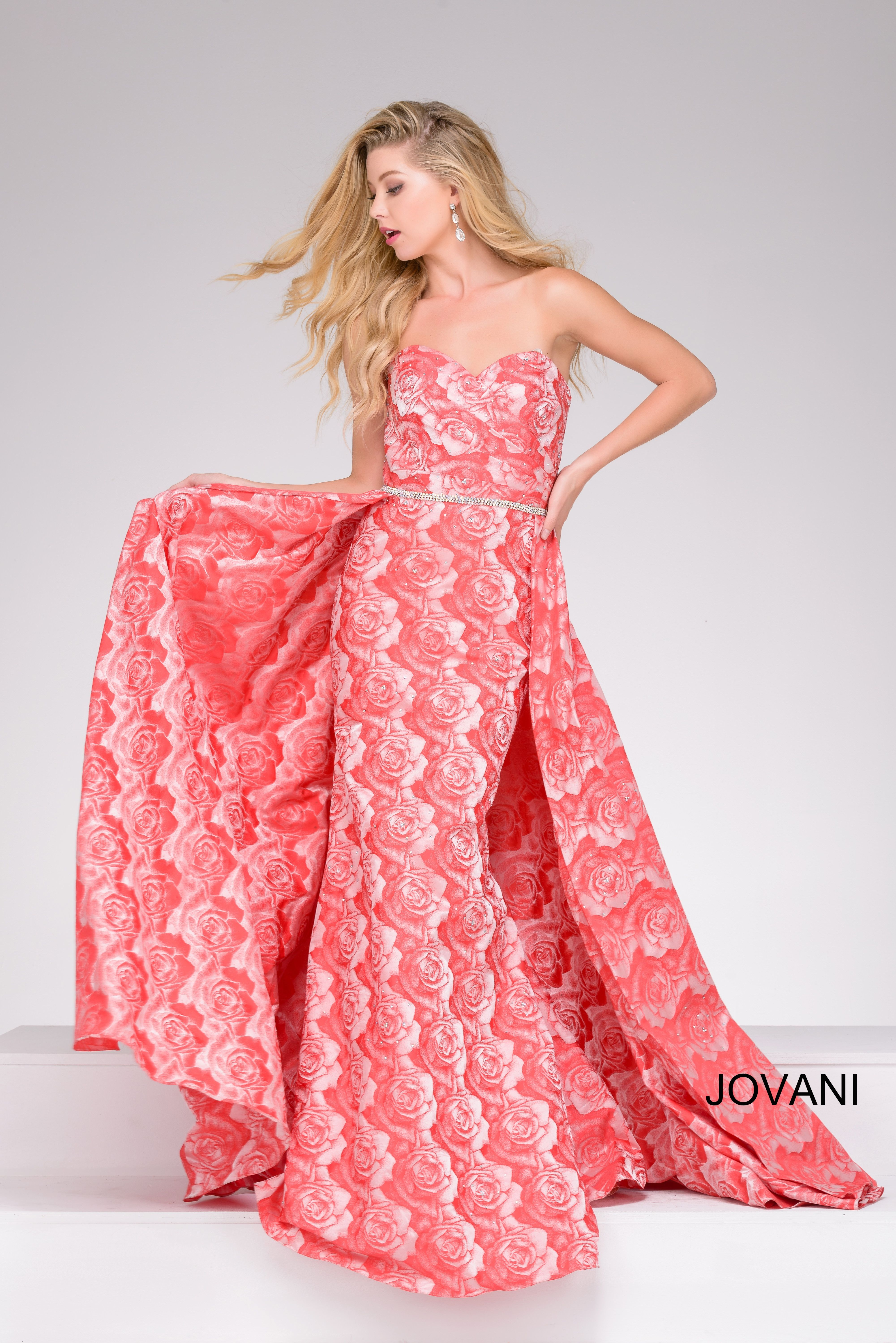 Make a flowerful statement in Jovani style 45934 available at ...