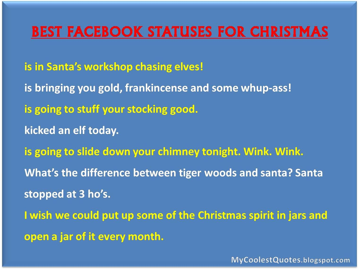 funny christmas quotes for facebook | ... FREE – Feel Free to share ...