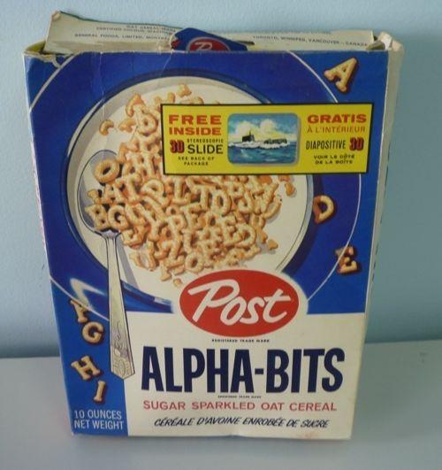 1959 Post Alpha Bits Stereoscopic Viewer Slide Advertising