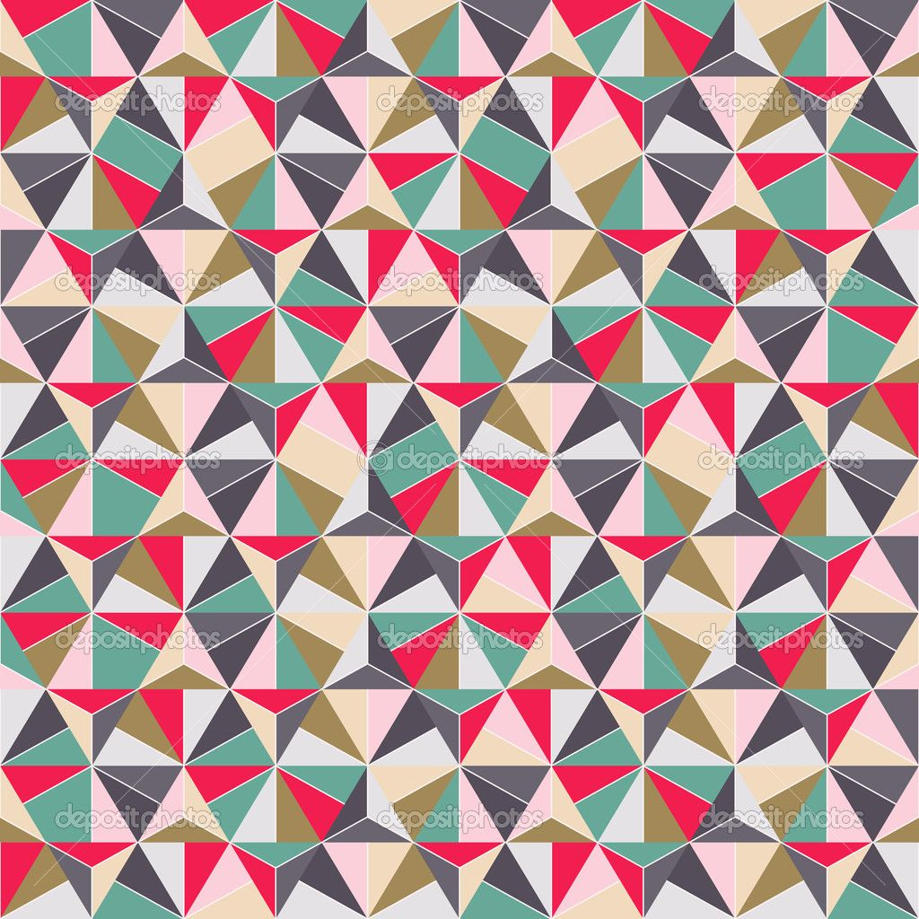 Geometric Triangle Shape Seamless Pattern Crafts Wood: geometric patterns