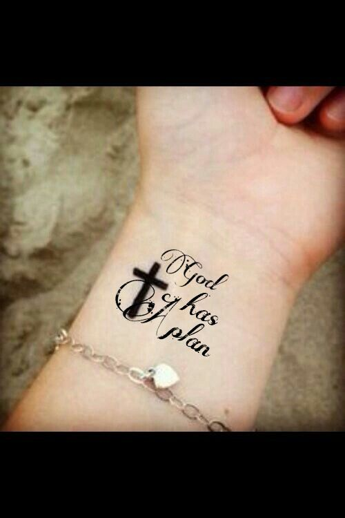 6671fb9d9 small christian tattoos for women trust. God has a plan for each and  everyone of you!!