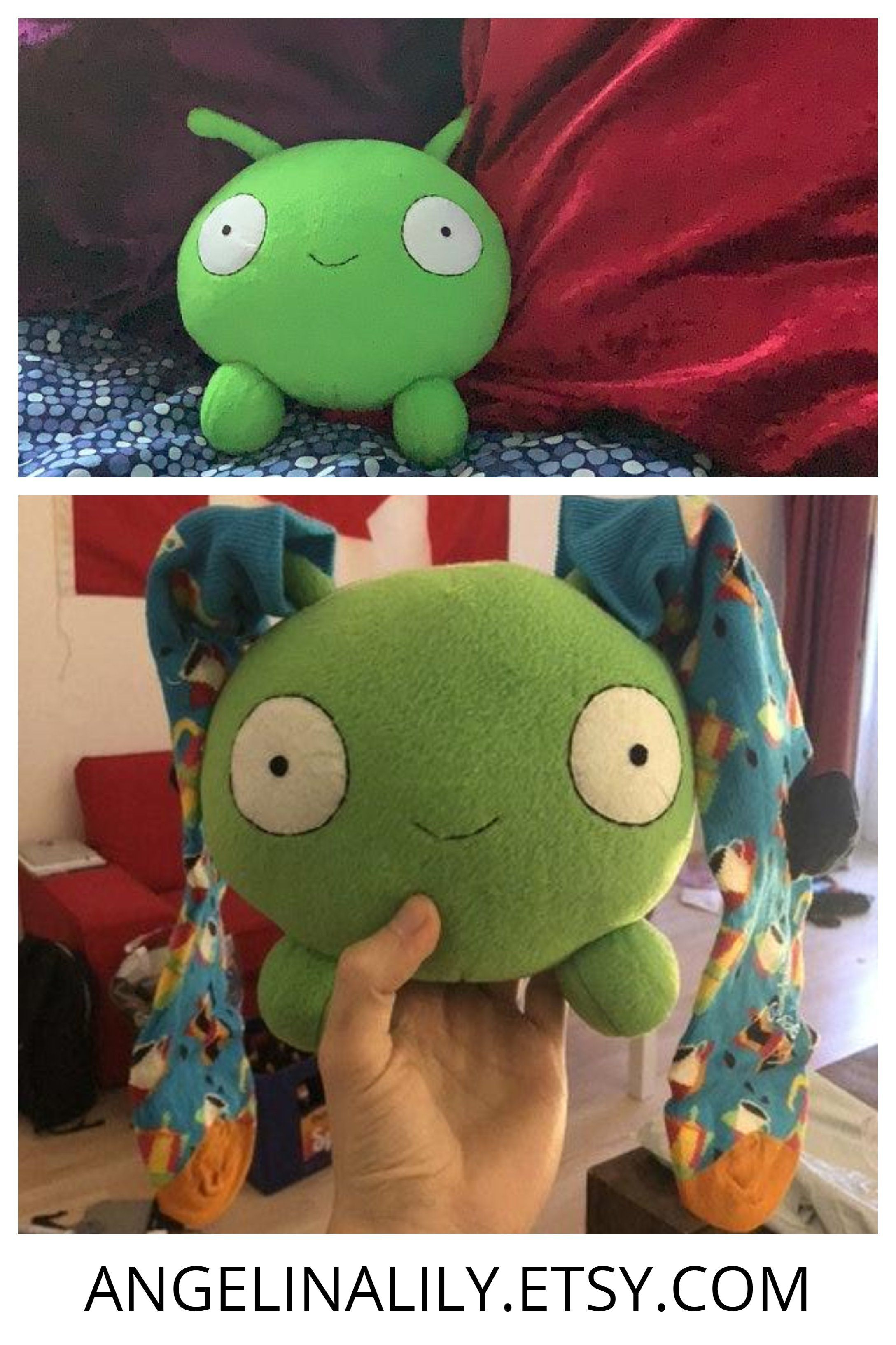 Mooncake Green Alien handmade plush в 2020 г