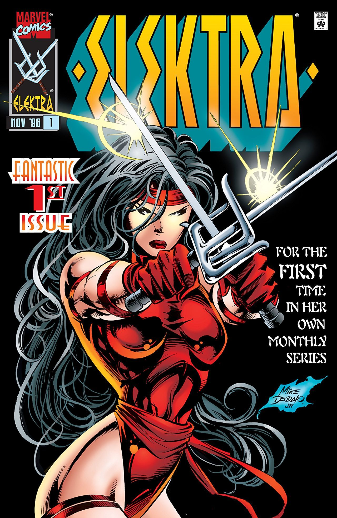 Elektra 1 Afraid Of The Dark November 1996 Comics Mike Deodato Marvel Comics