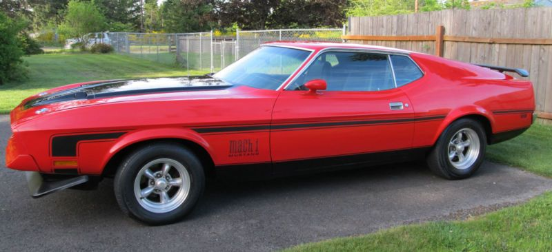 71 Ford Mustang Mach 1 351 Cleveland M Code Fastback V8 ...