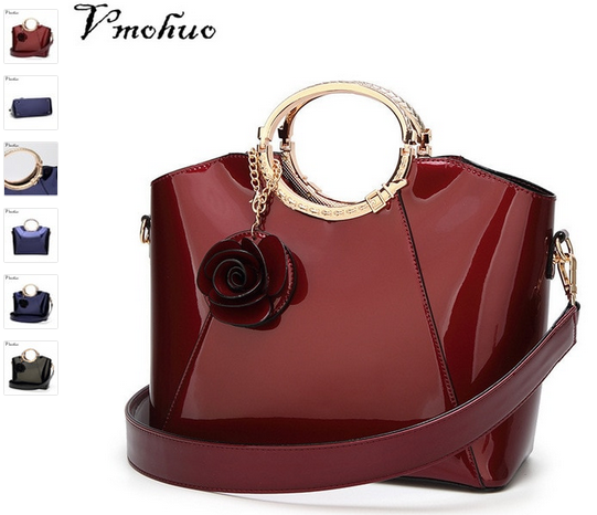 c1b1f4f25258 Patent Bags Handbags Women Famous Brands Ladies Lacquer Red Bag Japanned Leather  Women s handbag Shoulder Bag sac a main