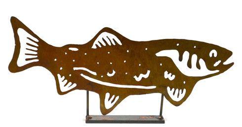 Salmon Metal Tabletop Sculpture TSC10