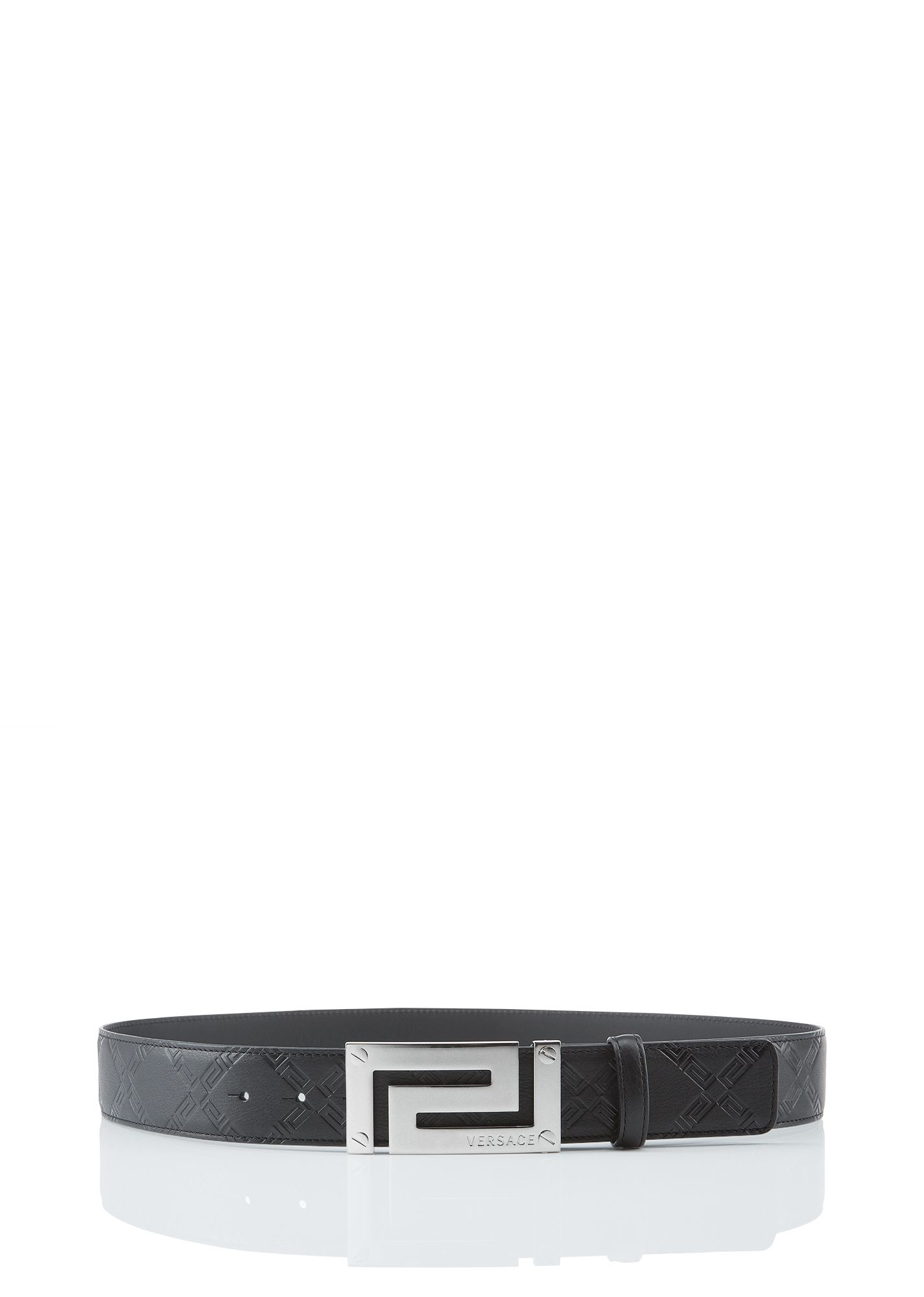 Greca Leather Belt  Versace  VersaceMenswear   Belts   Pinterest ... a7b2f629d73
