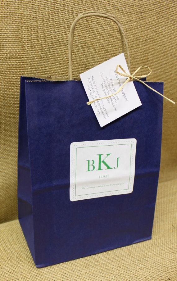 Gift Bags For Wedding Guests At Hotel