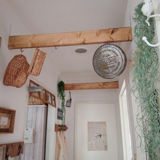 壁 天井 100均リメイク リメイク 100均 セリア などのインテリア実例