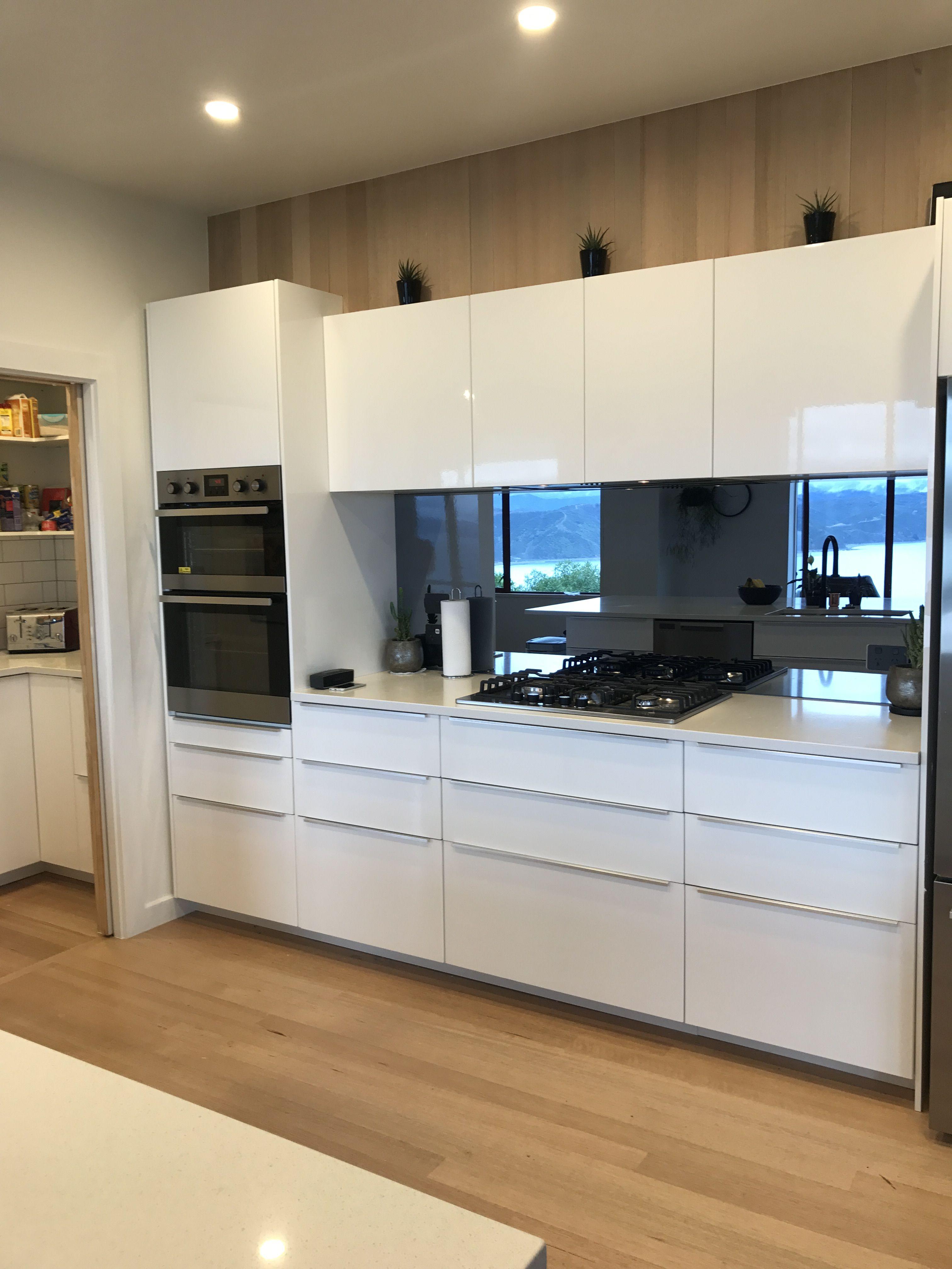 IKEA Kitchen Frosted mirror splash back  Ikea kitchen, Kitchen