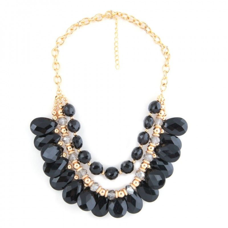 Collar de Piedras Negras - LA FASHION
