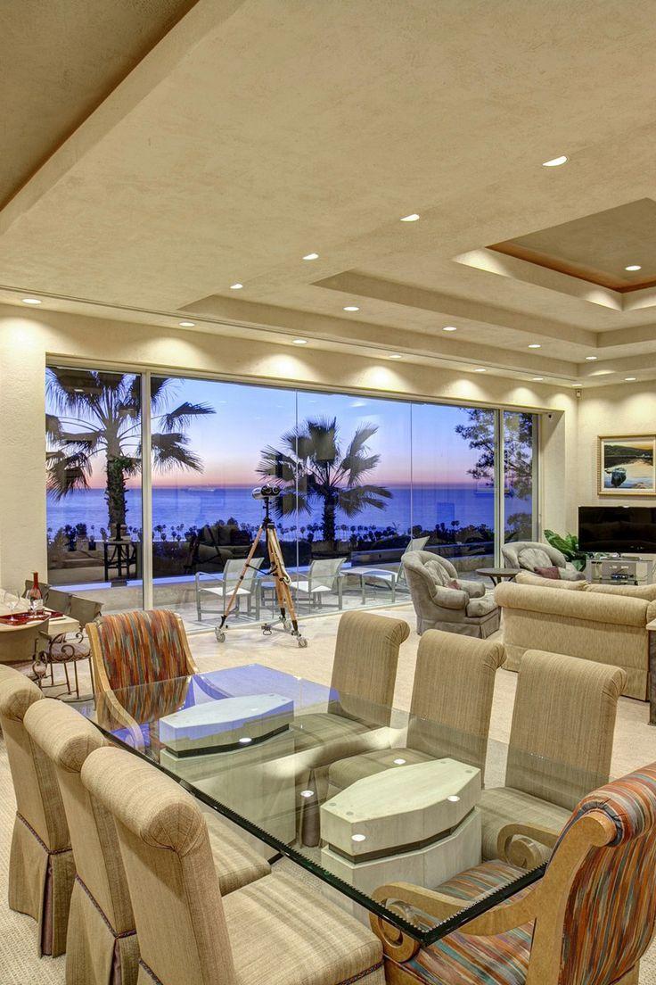 Oceanfront Living Room Design From A La Jolla California Home