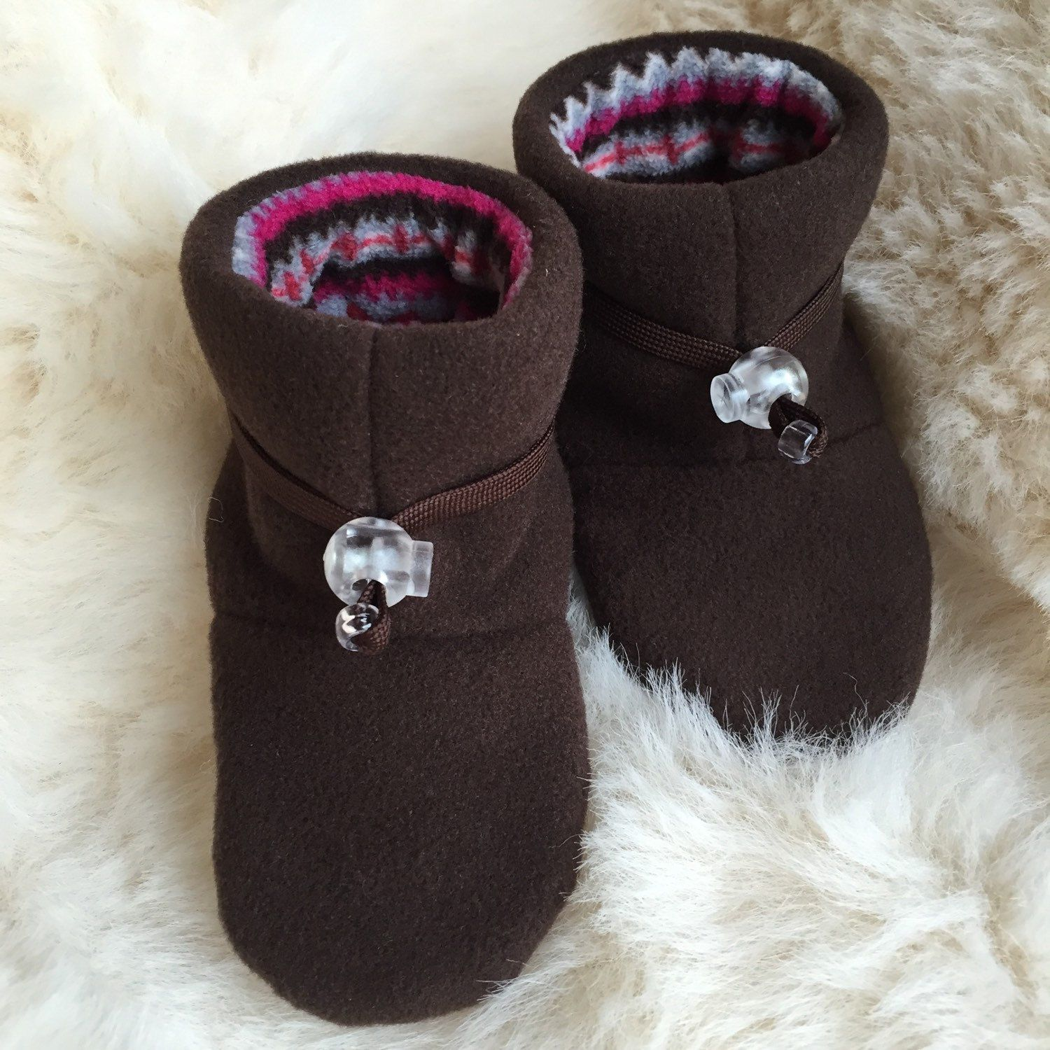 Baby girl slipper booties soft sole shoe from Toggle Toes in
