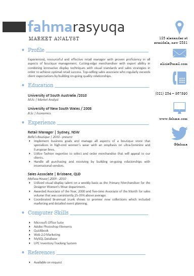 Modern Microsoft Word Resume Template Fahma Rasyuqa By Inkpower