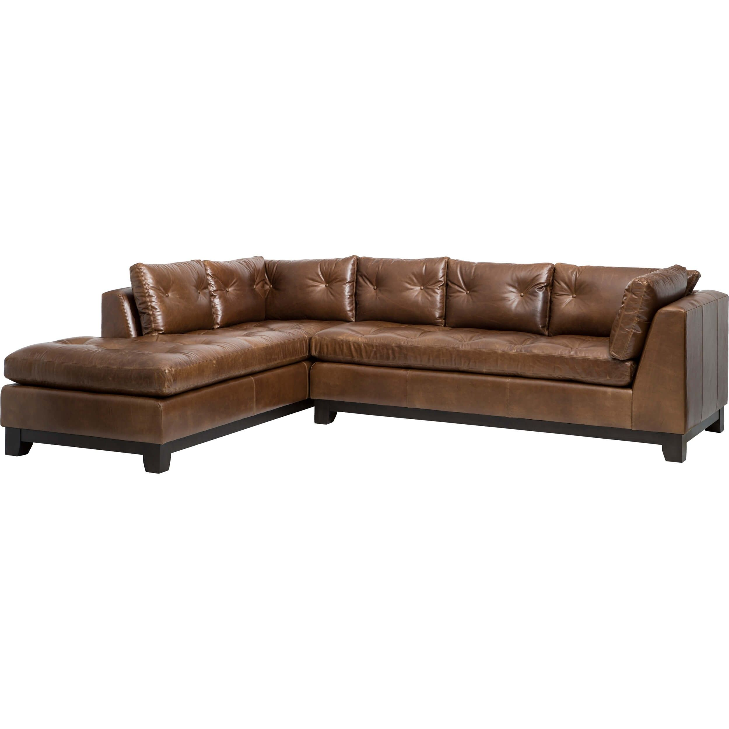Wondrous Chandler Leather Sectional Libby Saddle Den Design Ideas Alphanode Cool Chair Designs And Ideas Alphanodeonline