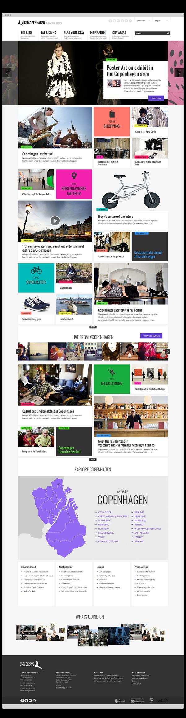 Visitcopenhagen Com By Jesper Winther Via Behance Veb Dizajn Dizajn Idei