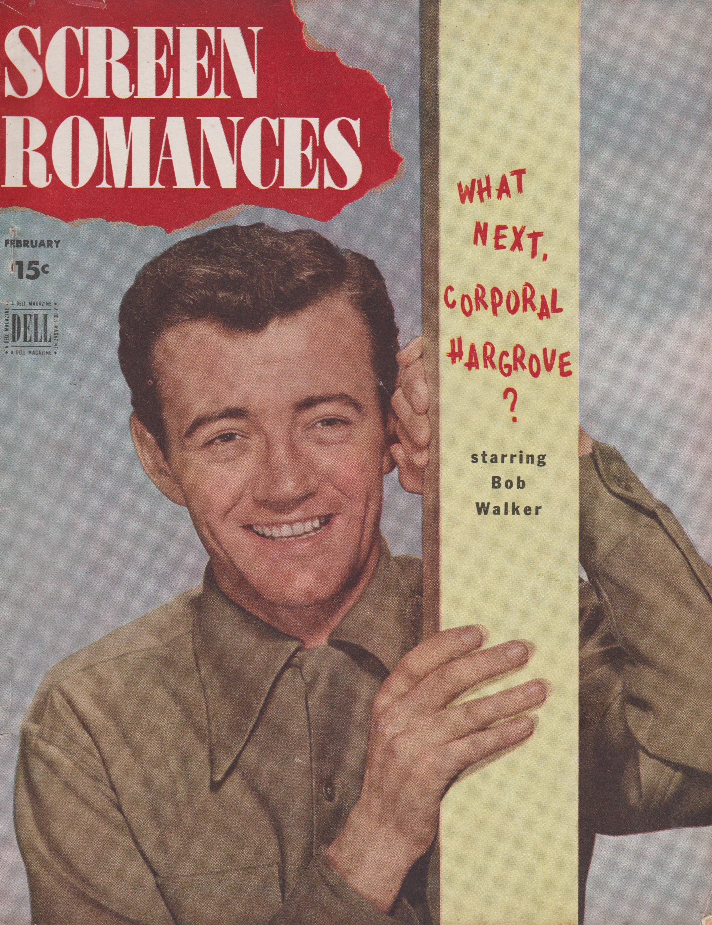 Robert Walker on the February 1946 Screen Romances