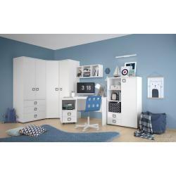 Photo of Kinderzimmer – Drehtürenschrank / Kleiderschrank Benjamin 14, Farbe: Buche / Olive – 198 x 126 x 56 – home/dekor