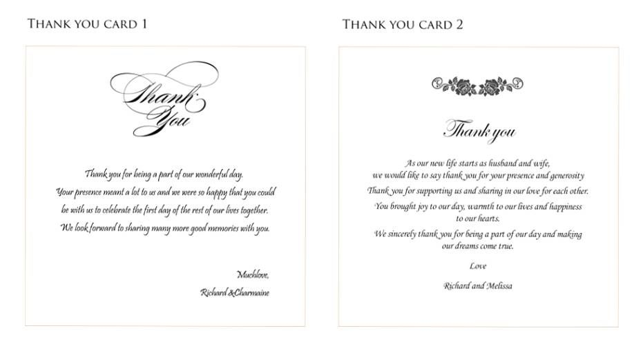 Thank You Message For Wedding Wedding Ideas Street – What to Put in a Wedding Thank You Card