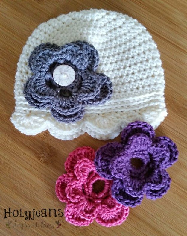 Free+crochet+pattern+flower | I Love To Be Warm...Crochet = Happy ...