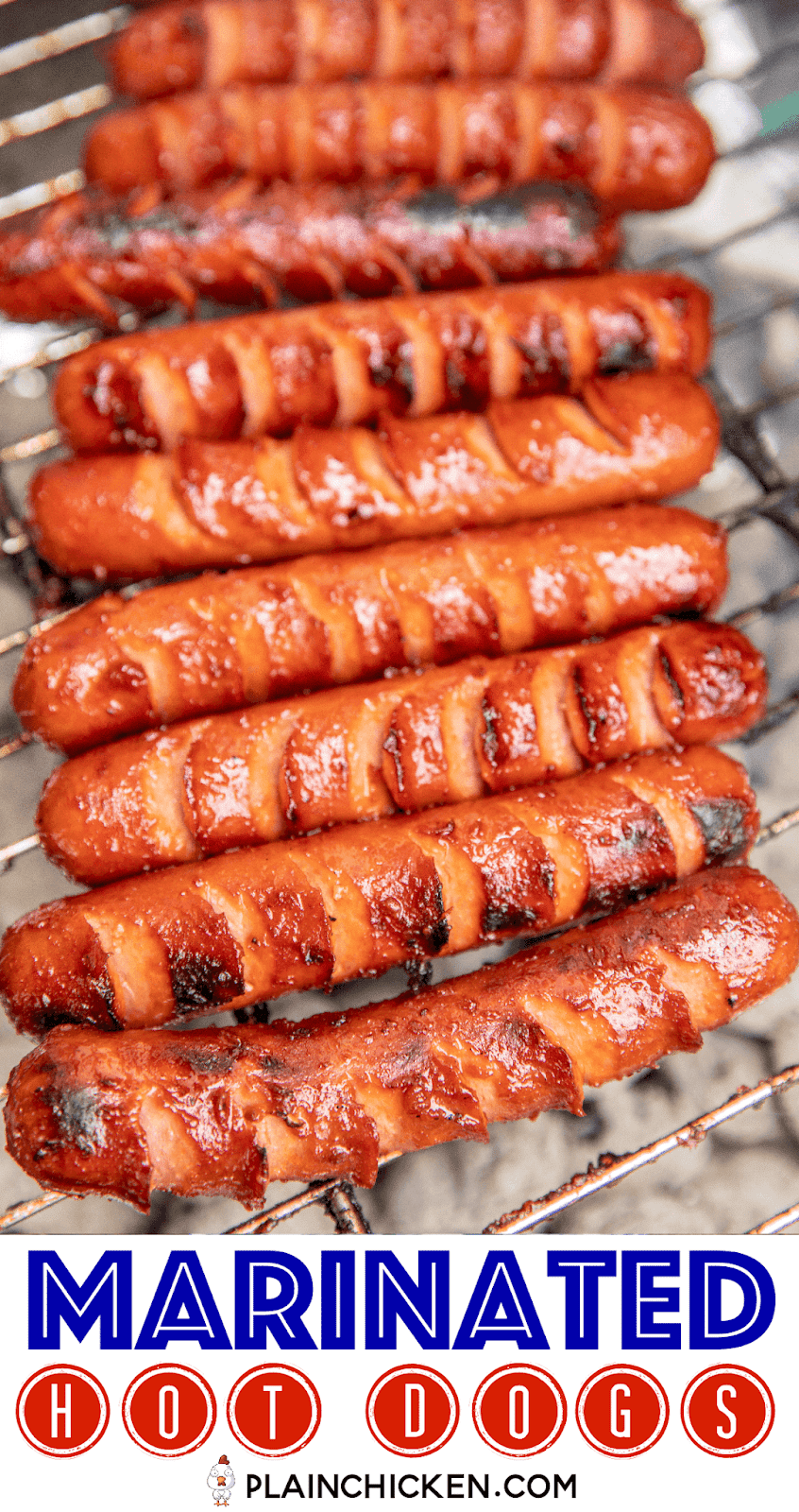 Marinated Grilled Hot Dogs - Plain Chicken