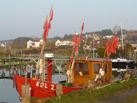 Fischer und Sportboothafen am Achterwasser Seebad Loddin