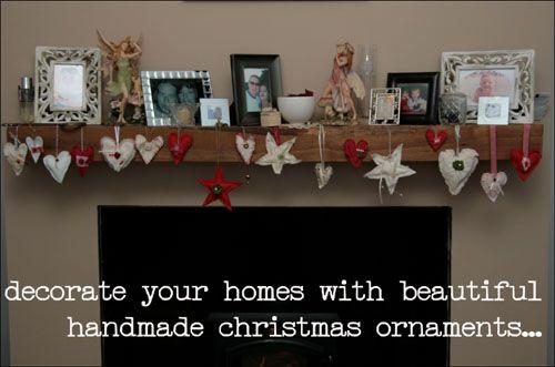 Christmas decorations  http://fantasticribbons.blogspot.co.uk/2012/11/homespun-christmas-decor.html