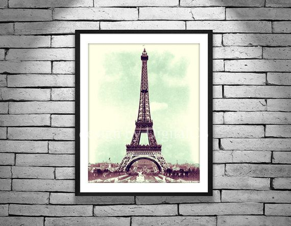 Paris Wall Art Eiffel Tower Print Printable Art 8x10 By Digitalcs 10 00 Eiffel Tower Painting Wall Art Paris Wall Art