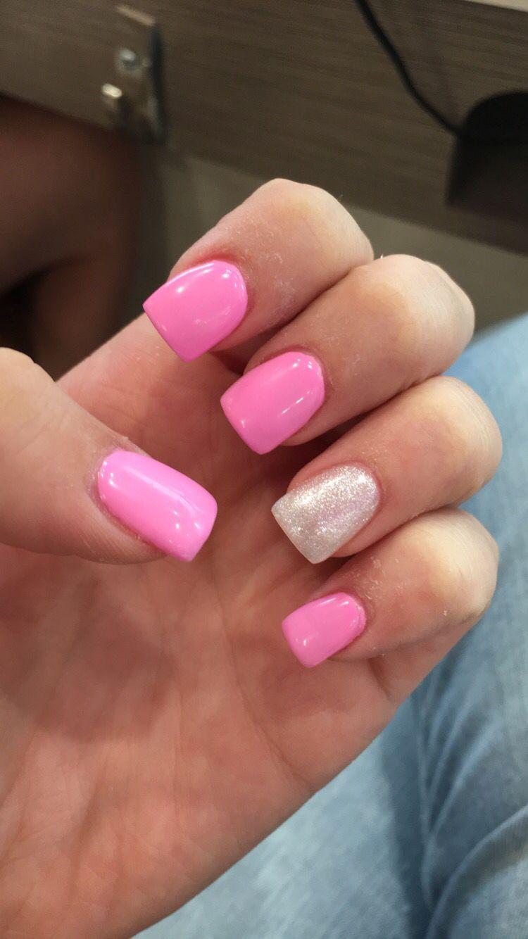 Pink and White Gel Acrylic | Nails | Pinterest | Nail nail