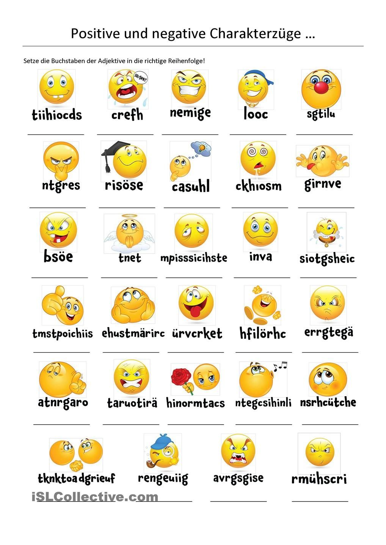Positive und negative Charakterzüge | educativos ...